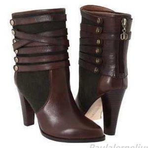 Anthropologie Vacchetta Daniblack leather boots 9